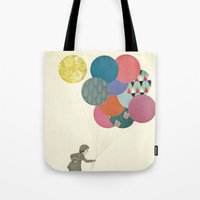 party Tote Bags featuring Party Girl by Cassia Beck