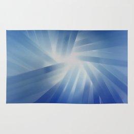 Blue Streaks of Light Rug