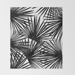 Tropical Fan Palm Leaves #2 #tropical #decor #art #society6 Throw Blanket