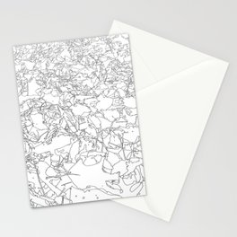 fallen leaves, drawing Stationery Cards