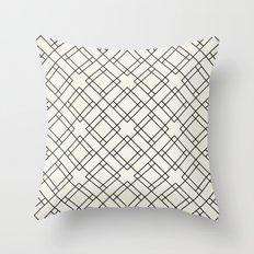 Simply Mod Diamond Black and Cream Throw Pillow