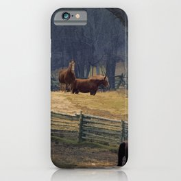 Wilderness Horse Ranch iPhone Case