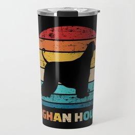 Afghan Hound vintage retro Travel Mug