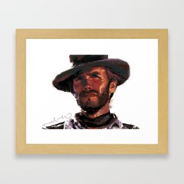 The Good - Clint Eastwood Framed Art Print