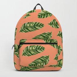 banana leaf peach Backpack
