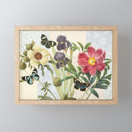 Flower Power Butterflies Framed Mini Art Print