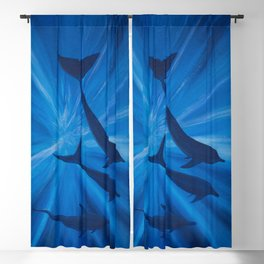 Dolphins in deep Blackout Curtain