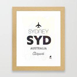 Sydney airport minimal Framed Art Print