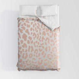 Rose Gold Leopard Spots Comforters