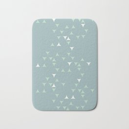 Minty_ Blue_Triangles Bath Mat