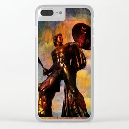 Statue of Achilles in London Hyde Park. Clear iPhone Case