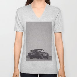 Supercar details, british triumph spitfire, black & white, high quality fine art print, classic car Unisex V-Neck