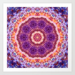 Cosmic Convergence Mandala Art Print