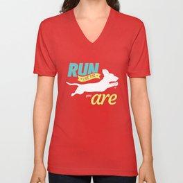 Run Like Dogs Unisex V-Neck