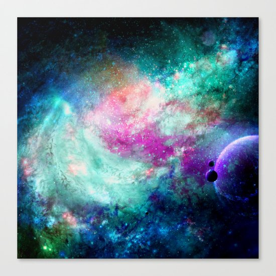 Teal Galaxy Canvas Print