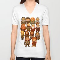 thorin V-neck T-shirts featuring Thorin and Company by ginkohs