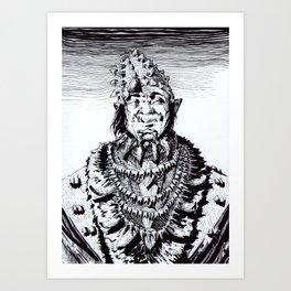 Orc Negotiator Art Print
