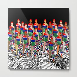 Toy Soldier Dolls Metal Print
