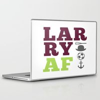 larry stylinson Laptop & iPad Skins featuring Larry AF - Harry Styles and Louis Tomlinson by pretty.