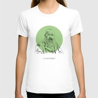 monet T-shirts featuring Claude Monet by Mark McKenny