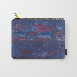 Abstract Purple Decay Carry-All Pouch