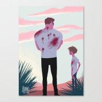 terminator Canvas Prints featuring TERMINATOR by JohannaTheMad