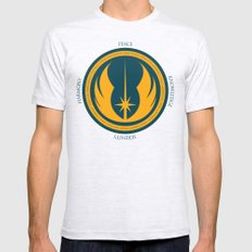 The Jedi Code SMALL Mens Fitted Tee Ash Grey