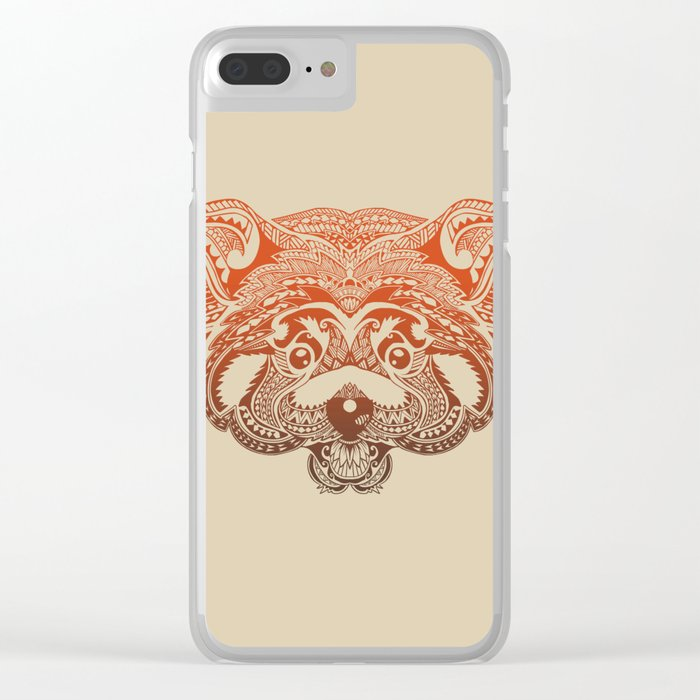 Polynesian Red Panda Clear iPhone Case