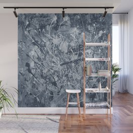 Abstract black painting Wall Mural