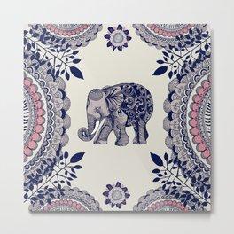 Elephant Pink Metal Print