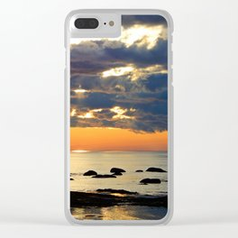 Textures Clouds over the Sea Clear iPhone Case