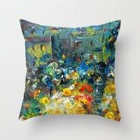 switzerland Throw Pillows featuring SWITZERLAND by Kelli Gedvil