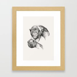 Seven Monkeys – Gluttony Framed Art Print