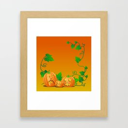 Pumpkins with personality Framed Art Print