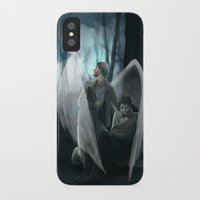 verse iPhone & iPod Cases featuring Reverse!verse Purgatory by Justyna Rerak