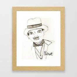 David Suchet as Hercule Poirot Framed Art Print