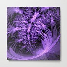 Purple dragonflies Abstract Metal Print