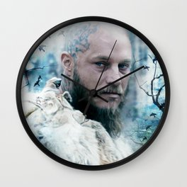 King of snow ravens. Wall Clock