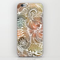batik iPhone & iPod Skins featuring Batik by brenda erickson