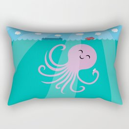 Octopus Selfie Rectangular Pillow