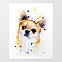 chihuahua Art Prints featuring Chihuahua by Slaveika Aladjova