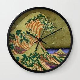Version Of The Great Wave Off Kanagawa Wall Clock