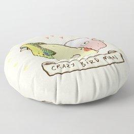 Crazy Bird Man Floor Pillow