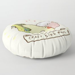 Crazy Bird Man Floor Pillow