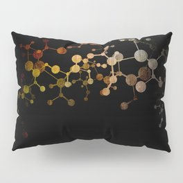 Metallic Molecule Pillow Sham