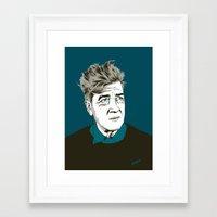 david lynch Framed Art Prints featuring David Lynch by The Art Warriors