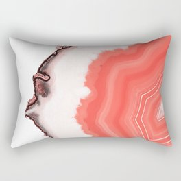 Living Coral Agate Rectangular Pillow