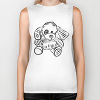 puppy Biker Tanks featuring Puppy by Omar Sangiovanni