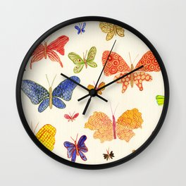 Beautiful butterflies Wall Clock