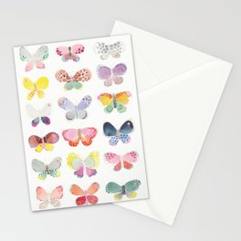 Painted butterflies Stationery Cards